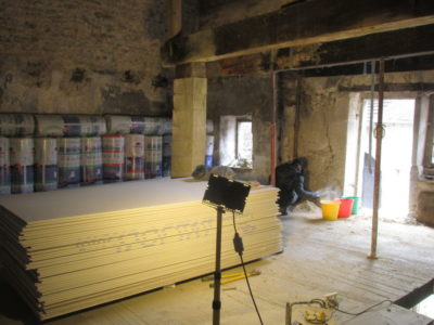 Insulation and plasterboard